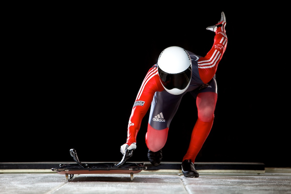 Canadian National Skeleton athlete John Fairbairn | Calgary commercial advertising photography