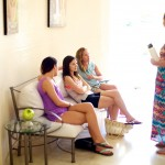 Destination wedding photographer | barcelo maya tropical resort Mexico | wedding photos | Bridesmaids waiting to get hair done