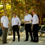 Destination wedding photographer | barcelo maya tropical resort Mexico | wedding photos | Groomsmen await the start of the ceremony