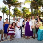 Destination wedding photographer | barcelo maya tropical resort Mexico | wedding photos | Funny family photo