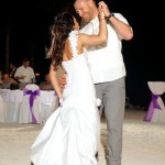 Destination wedding photographer | barcelo maya tropical resort Mexico | wedding photos | bride and groom first dance on beach