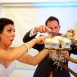 Calgary wedding photographer | Spruce Meadows wedding photos | Bride and groom cutting cake